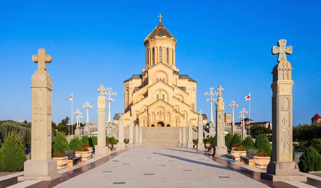 Holy Trinity Cathedral i Tbilisi, Georgien