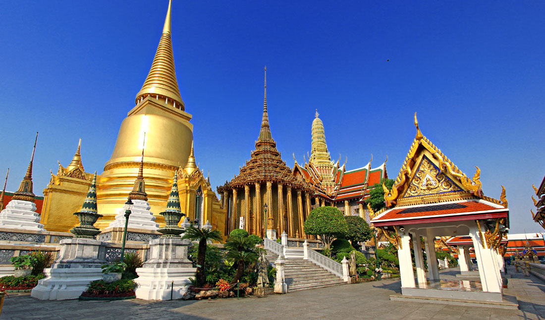 Wat Phra Kaeo or Temple of the Emerald Buddha, Bangkok, Thailand