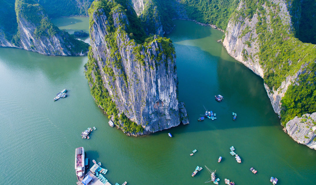 Ha Long bukten. Vietnam